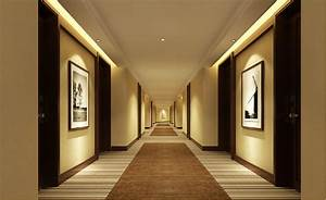 Minimalist hotel corridor floors and walls ideas