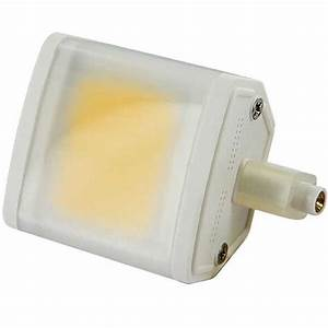 Ampoule Led R7s 78mm : ampoule r7s 78mm led cob 6 watts avec diffuseur milk ~ Melissatoandfro.com Idées de Décoration