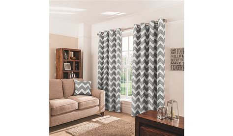 charcoal chevron eyelet curtains home garden george