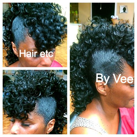 quick weave mohawk cute curly mohawk hairstyles