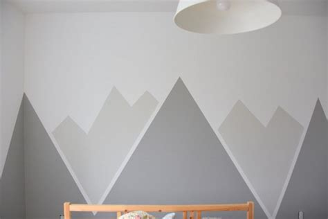 pull shades how to paint a diy nursery mountain mural no skills