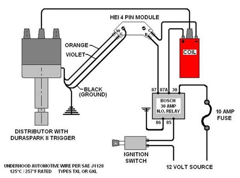 external coil hei distributor wiring diagram hei for chevy