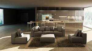 206 modern grey bonded leather sectional sofa las vegas for Sectional sofa las vegas