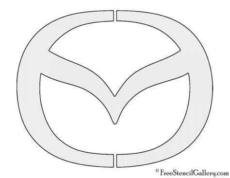 mazda logo  stencil gallery