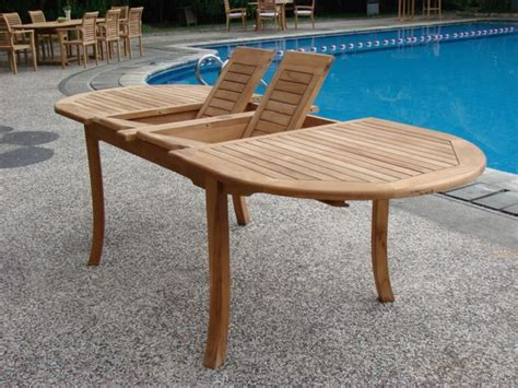 grade a teak 94 wood oval outdoor dining table patio table