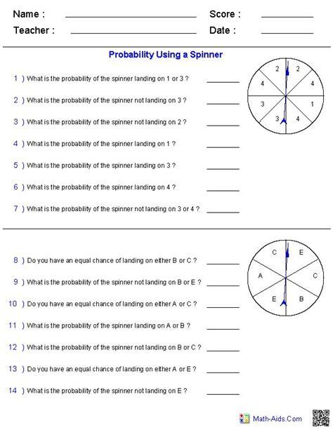 math probability worksheets 3rd grade math worksheet