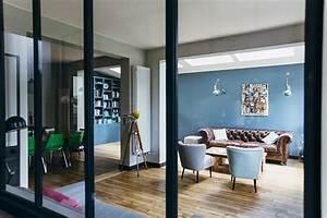 Deco Maison Industriel : nuances de bleu style industriel frenchy fancy ~ Teatrodelosmanantiales.com Idées de Décoration