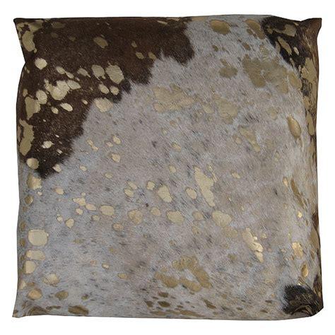 Metallic Cowhide Pillow by Metallic Cowhide Dec Pillows