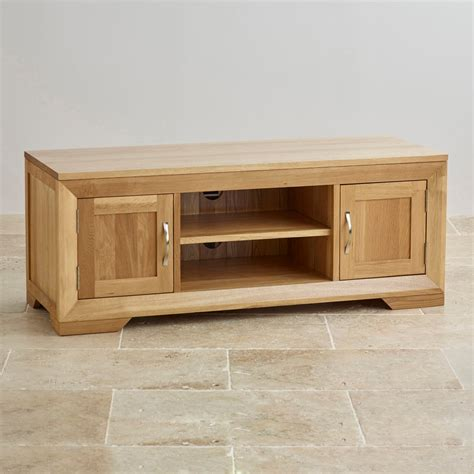 tv furniture cabinets bevel solid oak widescreen tv dvd cabinet