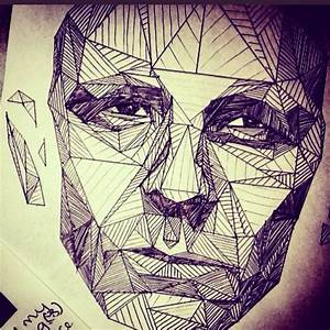 Drawing, face, triangles, geometry | Art | Pinterest