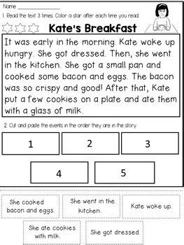 story sequencing reading passages reading comprehension passages reading comprehension and
