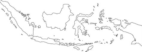 indonesia outline map