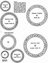 Cipher Wheel Code Secret Spy Escape Room Disk Own Puzzles Ciphers Breaker Disks Printable Letter Codes Templates Activities Geocaching Caesar sketch template