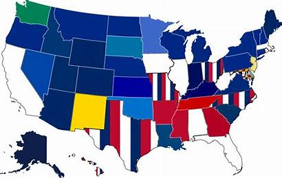 Flag States State Each Map Dominant Wa