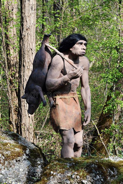 ice age neanderthal hunter   snow storm digital