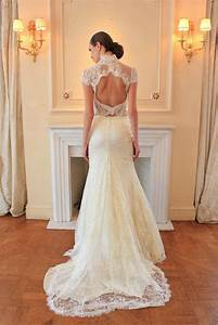 Lace Open Back Wedding Dress IPunya