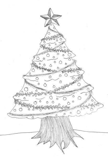 christmas tree drawing in pencil trees of the south