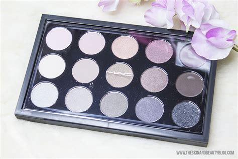 mac eye shadow  cool neutral palette review swatches