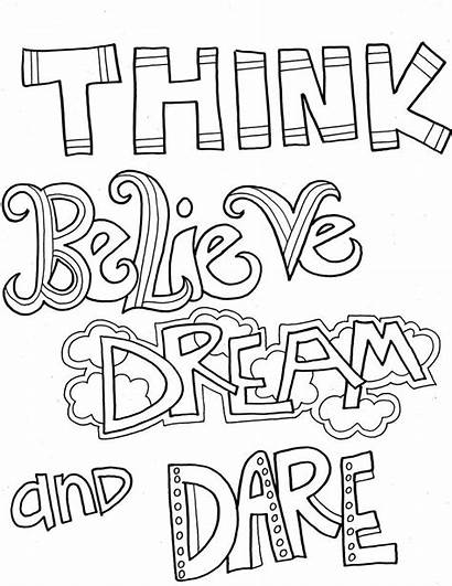 Coloring Inspirational Pages Quotes Adults Positive Motivational