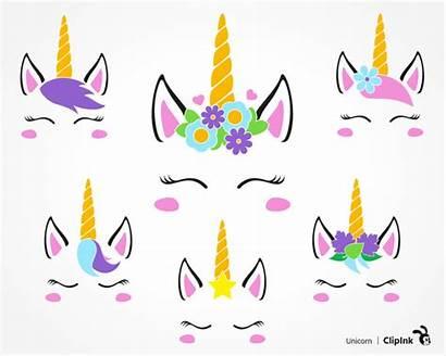 Unicorn Clipart Svg Printable Face Silhouette Clip