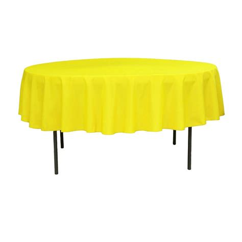 """Polyester 90"""" Round Tablecloth Yellow CV Linens"""