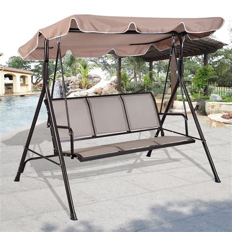 outdoor swing with canopy the 16 best 3 person canopy swings available on