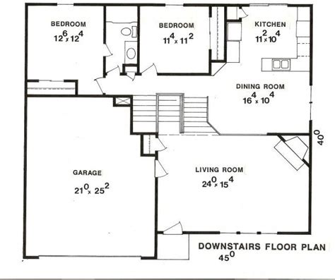 45 Ft Bathroom by House Plans For 40 X 25 Pictures Picphotos Net 400