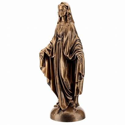 Poudre Miraculeuse Vierge Finition Statue Bronze Marbre