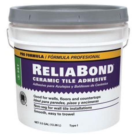 home depot wall tile adhesive custom building products reliabond 3 5 gal ceramic tile