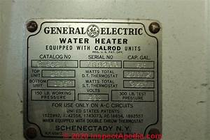 Ge Water Heater Age Decoding Guide  U0026 Ge Water Heater Manuals