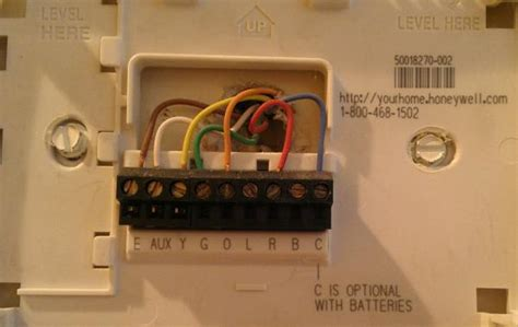 wiring diagram for honeywell thermostat th3210d1004 question regarding a honeywell thermostat wiring the new
