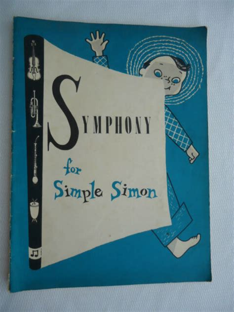 symphony  simple simon childrens orchestral instruments coloring book rare ebay