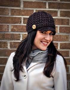Free Crochet Newsboy Hat Pattern Women