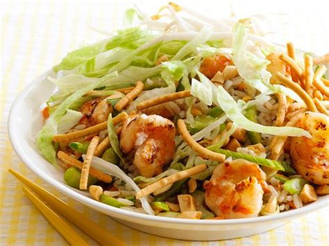 asian rice salad  shrimp recipe food network kitchen