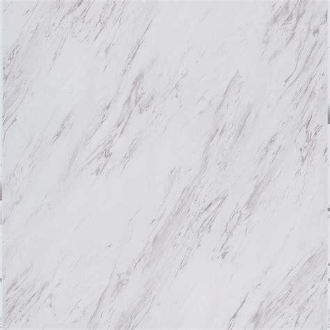 TrafficMASTER Carrara Marble 12 in. x 24 in. Peel and
