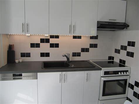 leroy cuisine ma cuisine en noir et blanc communauté leroy merlin