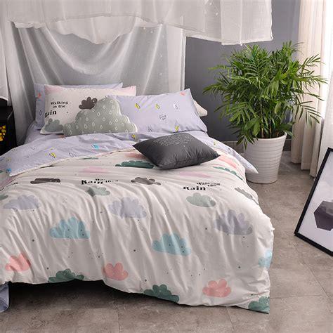 cotton kids girls cute bedding set single double king