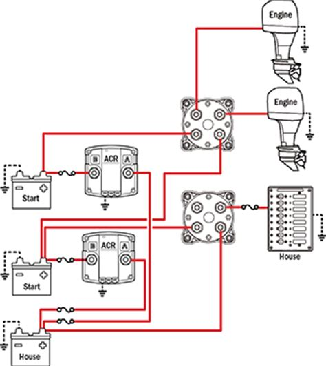 Boat Battery In Parallel by Battery Management Wiring Schematics For Typical