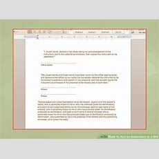 How To Add An Addendum To A Will 13 Steps (with Pictures