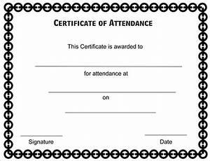 certificate of attendance seminar template - attendance certificate format for employees professional