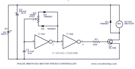 Pwm Motor Speed Control Circuit With Diagram For