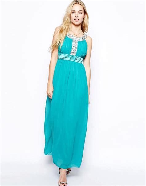 lovestruck lovestruck emily maxi dress with embellishment at asos