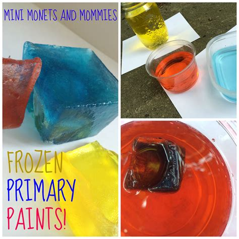 mini monets and mommies frozen color mixing abstract