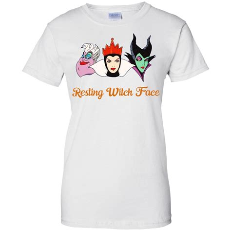 resting witch face shirt  halloween ursula maleficent evil queen