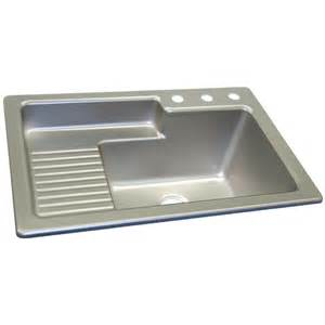 shop corstone steel self rimming acrylic laundry sink at
