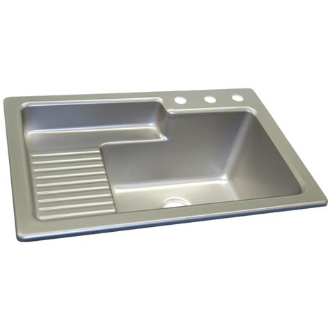 corstone laundry room sinks shop corstone steel self acrylic laundry sink at