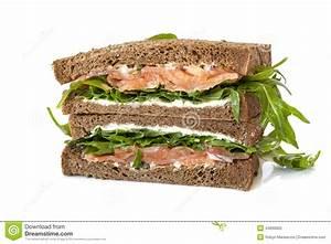 Smoked Salmon Sandwich Stock Photo - Image: 44830605