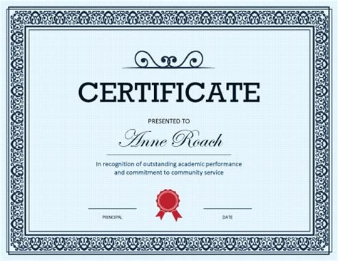 printable award certificates achievement merit honor