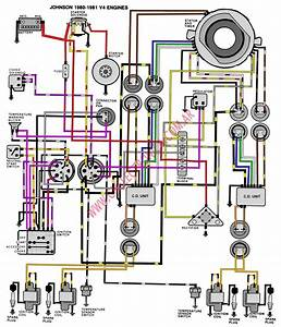 Diagrama Evinrude Johnson 80 81 V4