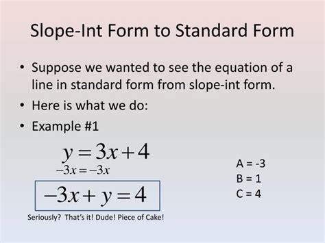 ppt standard form and point slope form powerpoint